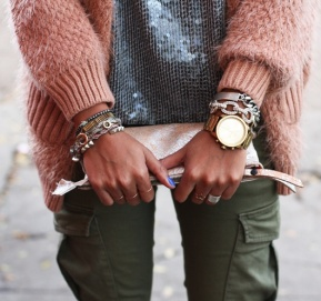 gold watch arm party