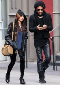 lenny kravitz with daughter zoe