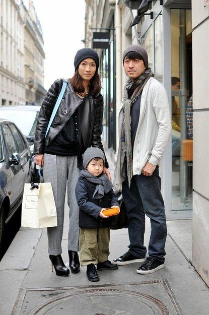 very stylish family
