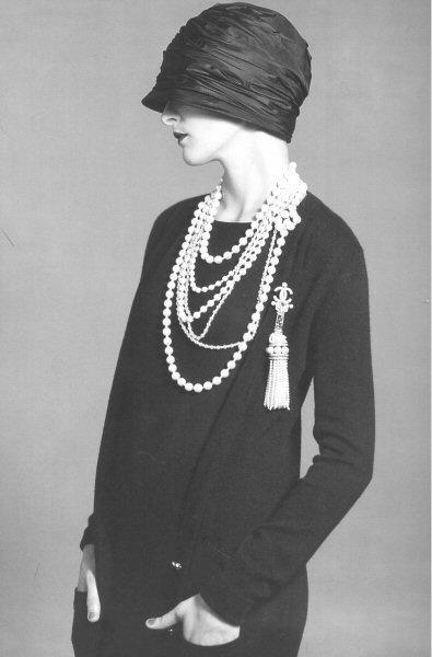 vintage layered pearls