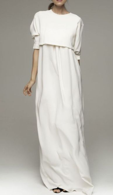 layered white ensamble