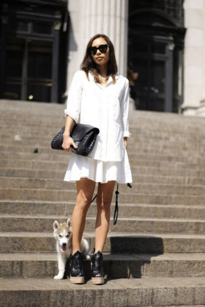 NYFW Streetstyle All White 13
