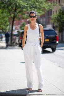 NYFW Streetstyle All White 2