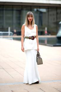 NYFW Streetstyle All White 4