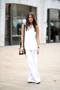 NYFW Streetstyle All White 5