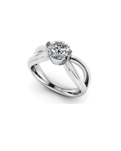 Anjolee Endless Love Diamond Engagement Ring