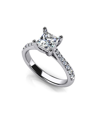 Anjolee Timeless Princess Cut Engagement Ring