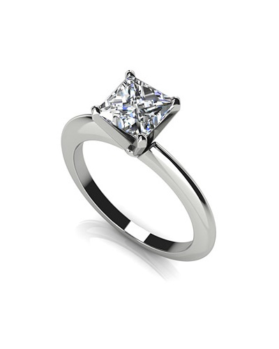 Anjolee Diamond Lined Split Shank Engagement Ring