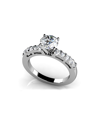 Anjolee She is a Ten Diamond Engagement Ring