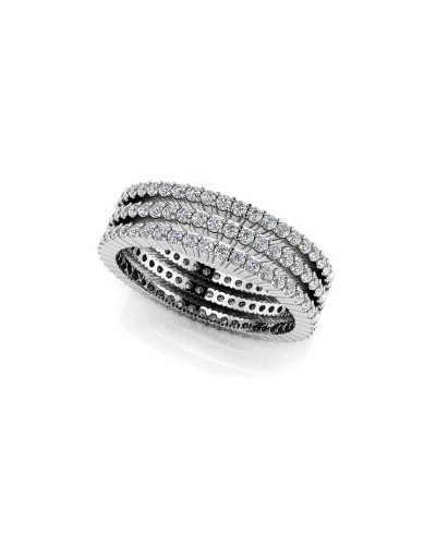 Anjolee Three Stacked Eternity Ring