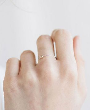 almost invisible delicate ring