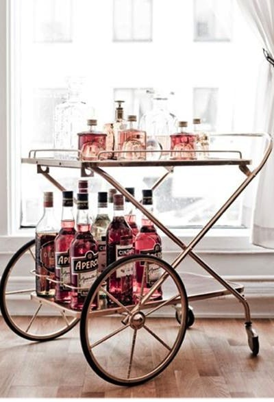 dainty bar cart
