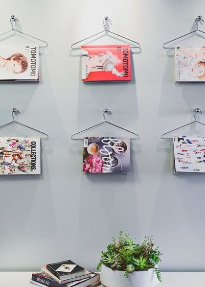 hanger magazine wall decor