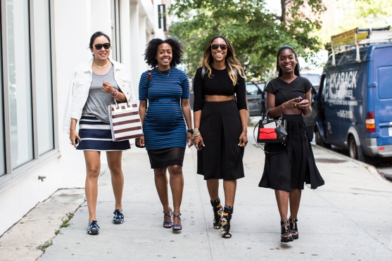 NYFW ss2015 day 2, outside Kate Spade