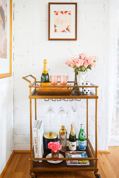 parisian bar cart