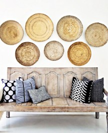 wood plates wall decor