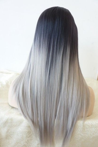 grey long ombre