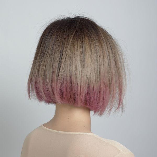 short bob pink ombre
